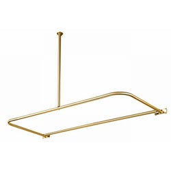 D-Type Polished Brass Shower Rod