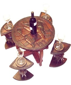 Handcrafted Elephant Table Set (Ghana)