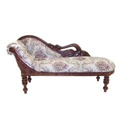 Mahogany Child's Swan Sofa