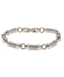 Men's Titanium Dual-finish Link Bracelet