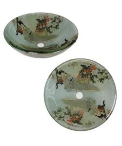 Fontaine Geisha Glass Vessel Bathroom Sink