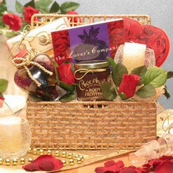 Romantic Elegance Valentine's Day Gift Basket