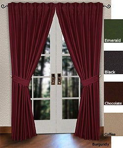 Pleated Pole Top 86-inch Curtain Panel Pair