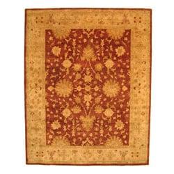 Hand-tufted Wool Rust Agra Rug (7'9 x 9'9)