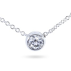 14k Gold 1/4ct Diamond Solitaire Necklace (H-I,I1-I2)