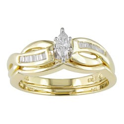 14k Yellow Gold 1/4ct TDW Diamond Bridal Ring Set (G-I, I1-I2)