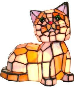 tiffany style bobble head cat lamp 1019496 shopping. Black Bedroom Furniture Sets. Home Design Ideas