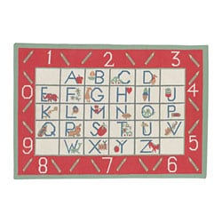 Alphabet Hand-woven Wool Rug (6 x 9)