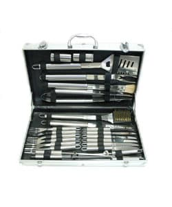 Daxx Stainless Steel 24-piece BBQ Set with Case