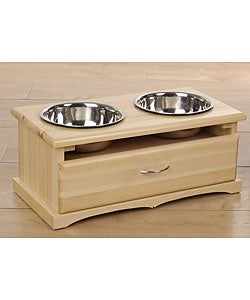 Pine Large Pet Feeding Station with Drawer