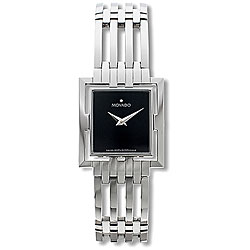 Movado Esperanza Women's Black Dial Square Watch
