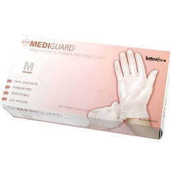 Medline Vinyl Powder-Free Exam Gloves - Medium (Case of 1000)