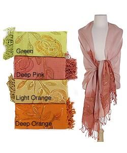 Ahujasons Print Women's Hand-woven Light Wool Scarf