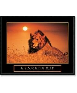 Framed Inspirational  on Leadership   Lion Framed Motivational Art Print   Overstock Com