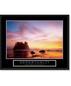 Framed Inspirational  on Opportunity Sunset Framed Motivational Art Print   Overstock Com