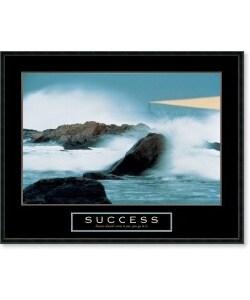 Framed Inspirational  on Success   Lighthouse Framed Motivational Art Print   Overstock Com