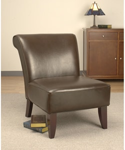 Garland dark brown leather chair 10300754 overstock for Abbyson living soho cream fabric chaise