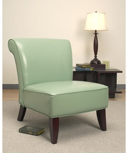 Garland Aqua Leather Chair 10300756 Shopping Great Deals