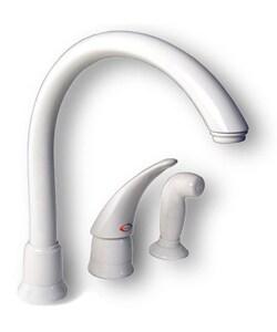 White Kitchen Faucet : Moen White Single-handle High Arc Kitchen Faucet - 10315824 ...