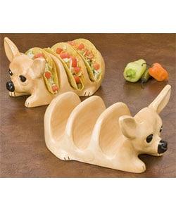 Tito Chihuahua Taco Holder Set