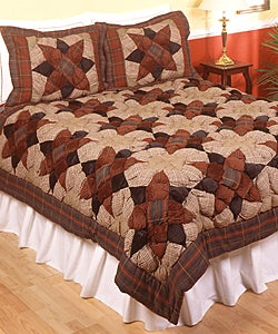 Anise Puff Patchwork Quilt Set