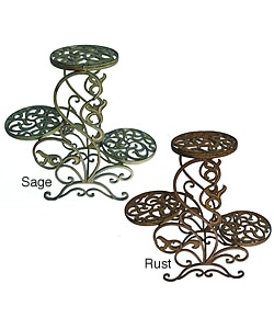 Iron Three-tier Plant Stand