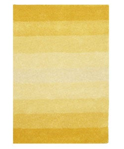 Hand-tufted Yellow Stripe Wool Rug (5' x 8')