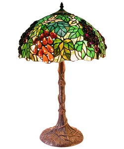 Tiffany-style Jewel Grape Table Lamp