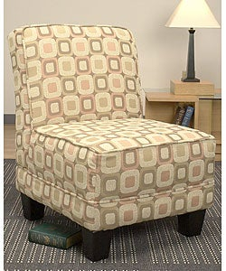 Welted slipper chair pink and cream blocks 10359893 for Abbyson living soho cream fabric chaise