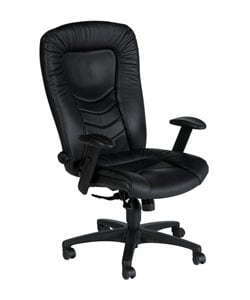 Sealy Posturepedic Black Italian Leather Office Chair