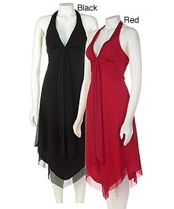 Alyn Paige Tie Neck Halter Dress