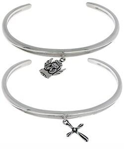CGC Sterling Silver Cross or Angel Charm Bracelet