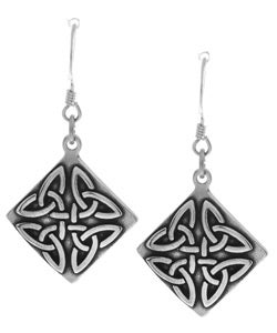 CGC Sterling Silver Triangle Knot Earrings