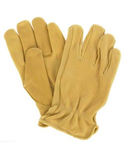 Daxx Premium Grain USA Deerskin Hand Clean Tan Color Leather Gloves