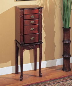 Small Mahogany Jewelry Armoire
