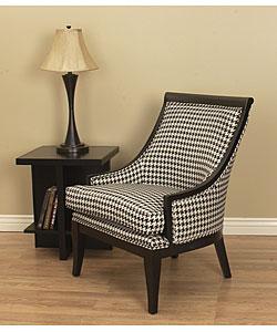Medford black amp white houndstooth chair 80000686 overstock com
