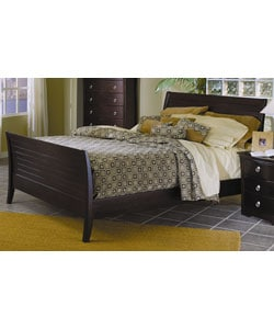Syracuse Merlot Queen-size Sleigh Bed