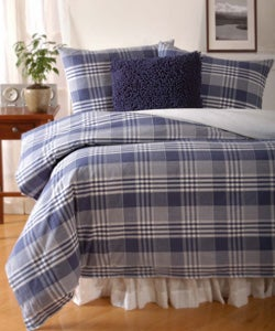 Crossroads Plaid Duvet Cover Set