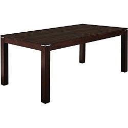 Venice espresso dining table 10398474 overstock com shopping