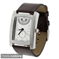 Geneva Platinum Men&#39;s Rectangle Face Watch