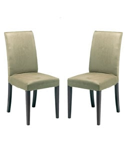 Spring Khaki Tall Back Chairs (Set of 2)