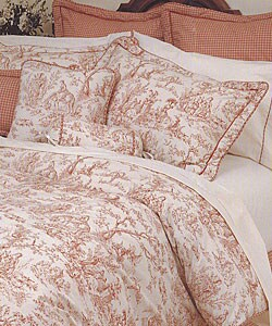 Toile Red Comforter Set