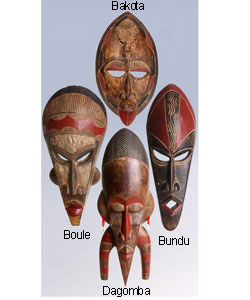 Symbolic Sese Wood African Tribal Mask (Ghana)