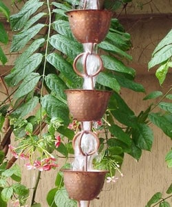 Hammered Cup with Ring Rainchain