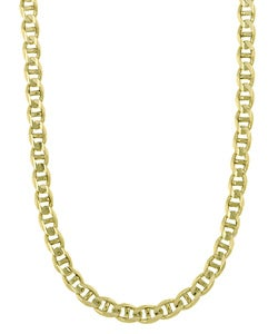 14k Gold Marina Anchor 24-inch Link Chain