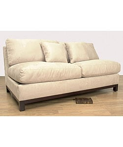 Ivory Armless Full size Sleeper Loveseat Overstock Shopping Great Deals on