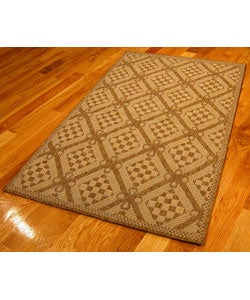 Honeycomb Polypropylene Area Rug (5'3 x 7'6)