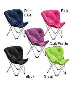 Plush Cushioned Folding Butterfly Chair