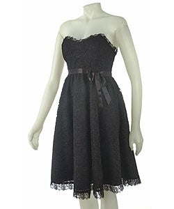 Strapless Black Dress on To The Max Strapless Black Dress   Overstock Com