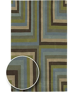 Hand-tufted Rio Wool Rug (8' x 11')